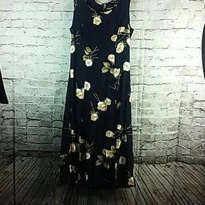Cimmaron Dress Medium Floral Navy Blue